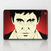 scarface iPad Cases featuring Scarface by Renan Lacerda