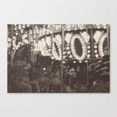 Fuzzy Carousel - B&W Canvas Print