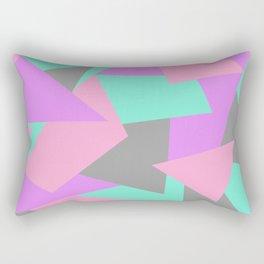 Neon triangles Rectangular Pillow