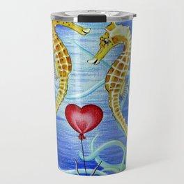 SEAHORSES IN LOVE Travel Mug