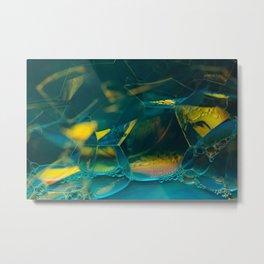 Aqua Bubbles Metal Print