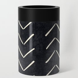 Mudcloth Big Arrows in Black and White Can Cooler