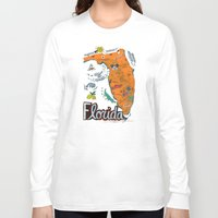 florida Long Sleeve T-shirts featuring FLORIDA by Christiane Engel
