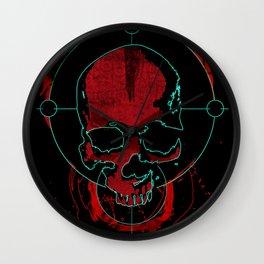Skull red Wall Clock