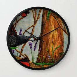 Crow Crunch Wall Clock