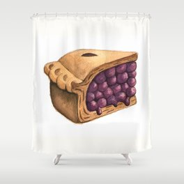 Blueberry Pie Slice Shower Curtain
