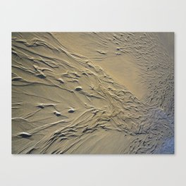STREAMING BEACH SAND RIPPLES ABSTRACT Canvas Print