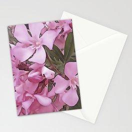 Artistic Pink Oleander Stationery Cards