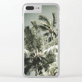 Kuau Hawaii Tropical Palms Sea Green Paia Maui Clear iPhone Case