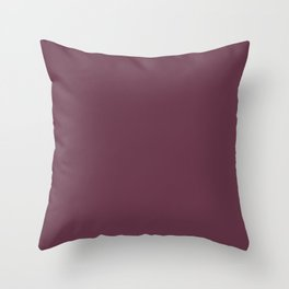 Color inspired by Valspar America Berry Brown Red Purple 1010-7 Solid Color Throw Pillow