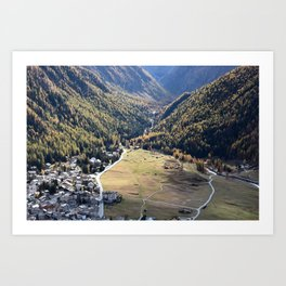Beautiful autumn landscape in mountain Art Print