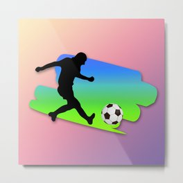 The Football game Metal Print