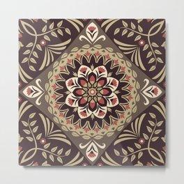 seamless pattern floral flower Metal Print