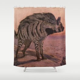 Vintage Hyena Painting (1909) Shower Curtain
