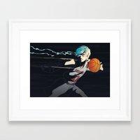 kuroko Framed Art Prints featuring Phantom Sixth Man by saturnpolice