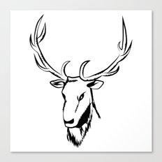 Ciervo negro Canvas Print