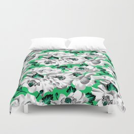 Mount Cook Lily - Green/White Duvet Cover