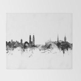 Zurich Switzerland Skyline Throw Blanket
