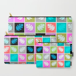 Boho Patchwork Leaf Pattern Carry-All Pouch