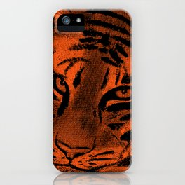 Tiger with Orange Background iPhone Case