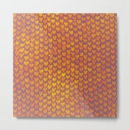 Dragon scale pattern Metal Print