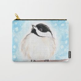 Cute Chickadee Watercolor Carry-All Pouch
