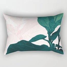 Blush Green Fiddle Leaf Dream #1 #tropical #decor #art #society6 Rectangular Pillow