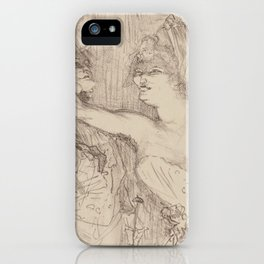 "Henri de Toulouse-Lautrec ""Guy et Mealy, dans Paris qui Marche"" iPhone Case"