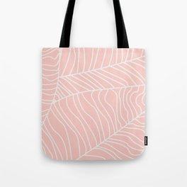 TROPICAL LEAVES - pink palette Tote Bag