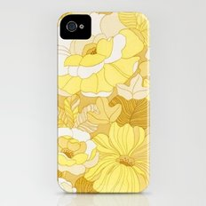 Retro floral sheets yellows iPhone (4, 4s) Slim Case