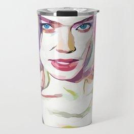 Doutzen Kroes (Creative Illustration Art) Travel Mug
