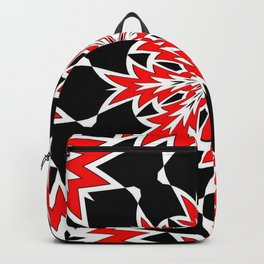 Bizarre Red Black and White Pattern 2 Backpack
