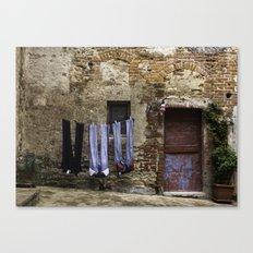 Red door laundry Canvas Print
