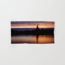 Sunset Reflection At The Lichfield Cathedral Hand & Bath Towel