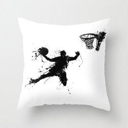 Slam dunk Basketballer Throw Pillow