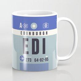 Baggage Tag A - EDI Edinburgh Scotland Coffee Mug