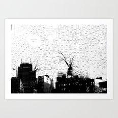 NYC splatterscape Art Print