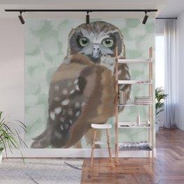 Green Eyed Owl Wall Mural