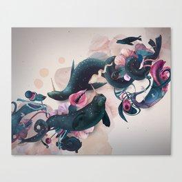 sea calf Canvas Print