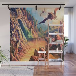 Chased Through Lava Wall Mural