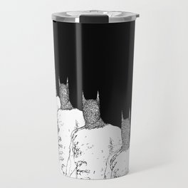 The Bat Black and White Fading Away Travel Mug