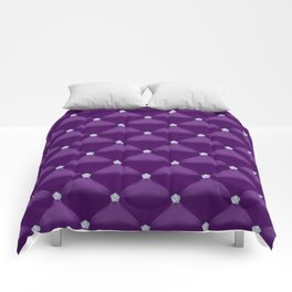Abstract Purple Quilted Pattern with Little Diamonds Comforters