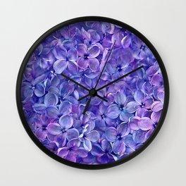 Lilac Petals Wall Clock