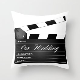 Our Wedding Clapperboard Throw Pillow