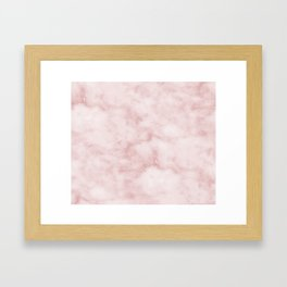 Sivec Rosa - cloudy pastel marble Framed Art Print