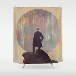 Wanderer above the sea of color Shower Curtain