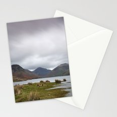 Rain clouds over Scafell and Great Gable. Wastwater, Cumbria, UK. Stationery Cards