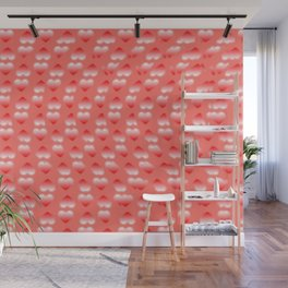 Hearts pattern and stereogram - See the hidden 3D image! Wall Mural