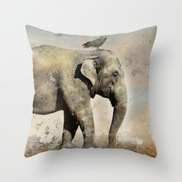 along for the ride 02 Throw Pillow