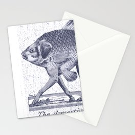 IF FISHES HAD LEGS (navy) Stationery Cards